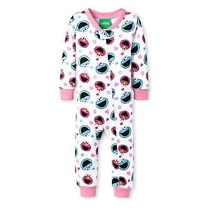 Sesame Street AME Little Girls Elmo Christmas Blanket Sleeper Pajamas Red