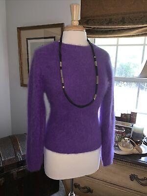 Hairy super fuzzy soft NWT Angora v neck purple sweater-absorb the softness!