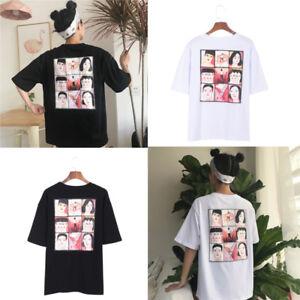 e6005e3ef401 Japanese Anime Character Sudoku T-shirt Harajuku Ulzzang Summer ...