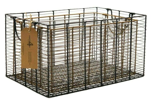 3-Piece Modern Metal Multi-Color Basket Set by Handcrafted 4 Home
