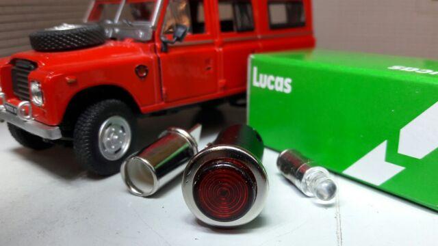 OEM Lucas SPB354 Red LED Illuminated Dash Warning Light Land Rover Series 2a 3