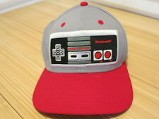 Nintendo Entertainment System NES Controller Snapback Cap Gray With Red Bill