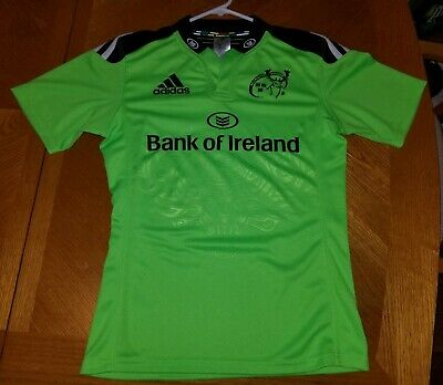 Pobreza extrema zona restante  Adidas Munster Rugby/Bank Of Ireland Jersey Shirt Green/Black ...