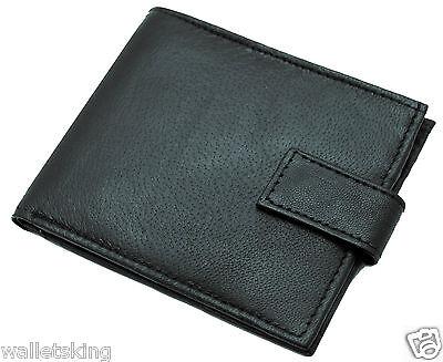 cremallera bolsillo monedero Monedero Para Hombre De Cuero Real Slim Monedero con tarjeta de crédito ID 421