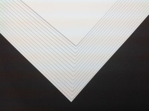 50 x A4 Ice White Pearlescent Shimmer Pearl Paper 120gsm ~ Double Sided