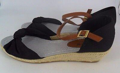 Mustang Shoes Sandalo Zeppa Fiocco Nero Uk 10 Eu 44 Js39 88 Vendite-mostra Il Titolo Originale