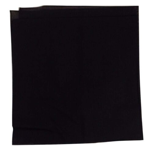 """Wide Selection Solid Bandana 27/"""" x 27/"""" 100/% Cotton 6 Pack"""