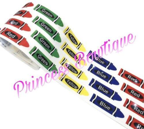 Ribbon crayon ribbon crayon back to school ribbon school ribbon crayons