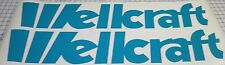 "(2)  WELLCRAFT  6.2 x 36""  Vinyl Boat Decals  TEAL"