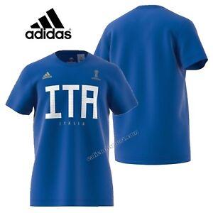T-SHIRT-ITALIA-UOMO-COTONE-ADIDAS-CW1987-MAGLIA-MONDIALI-FIFA-2018-BLU-ORIGINALE