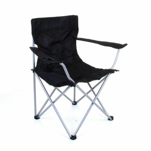 Black Folding Camping Chair Outdoor Festival Picnic Fishing Chair