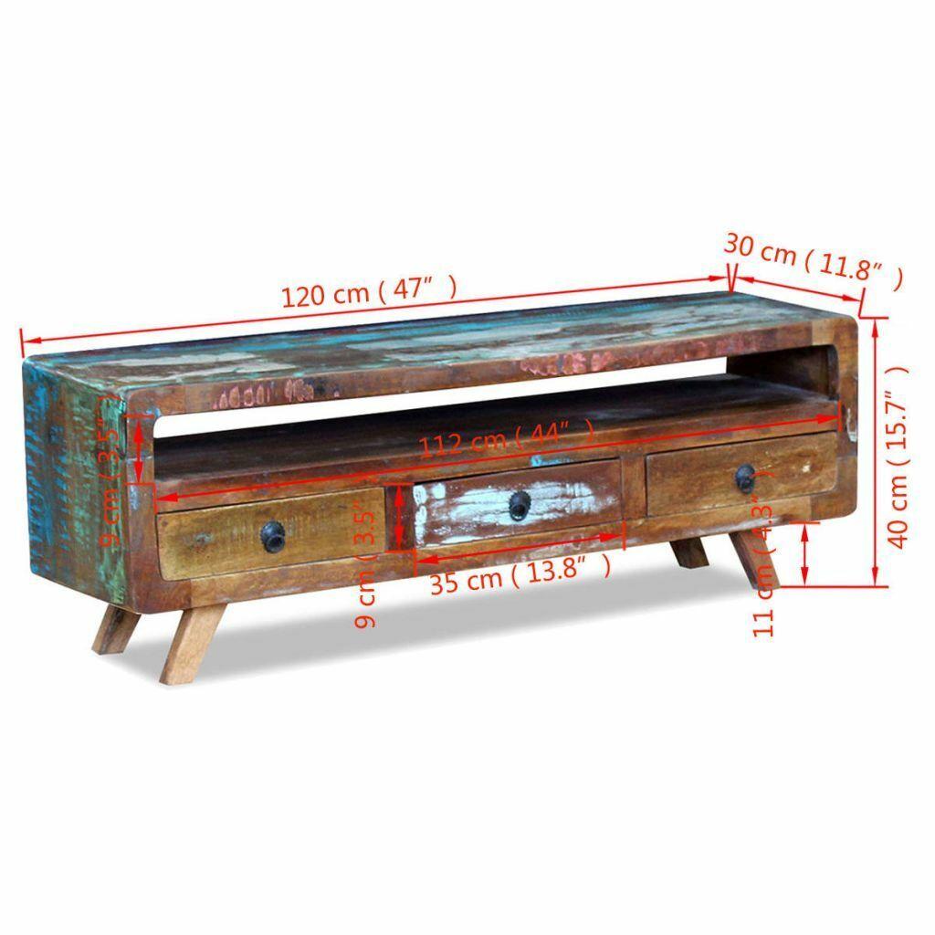 VidaXL Massivholz Massivholz Massivholz TV-Schrank Lowboard Hifi Fernsehtisch Sideboard Kommode Antik a5d25b