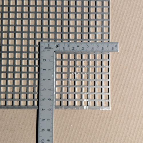 "Perforated Metal Aluminum Sheet .063 1//16/"" 12/"" x 12/"" x 1//2/"" Square hole"