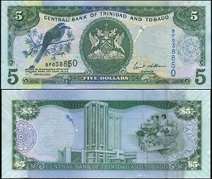 Trinidad und Tobago 5 Dollars. UNZ 2006 (2007) Banknote Kat# P.47a
