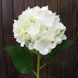 Image Is Loading White Faux Artificial Silk Floral Flower Bouquet Hydrangea