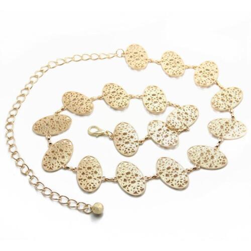 "Women/'s Elegant Gold Plated Metallic Belly Chain Belt Jewelry 42/""L New"