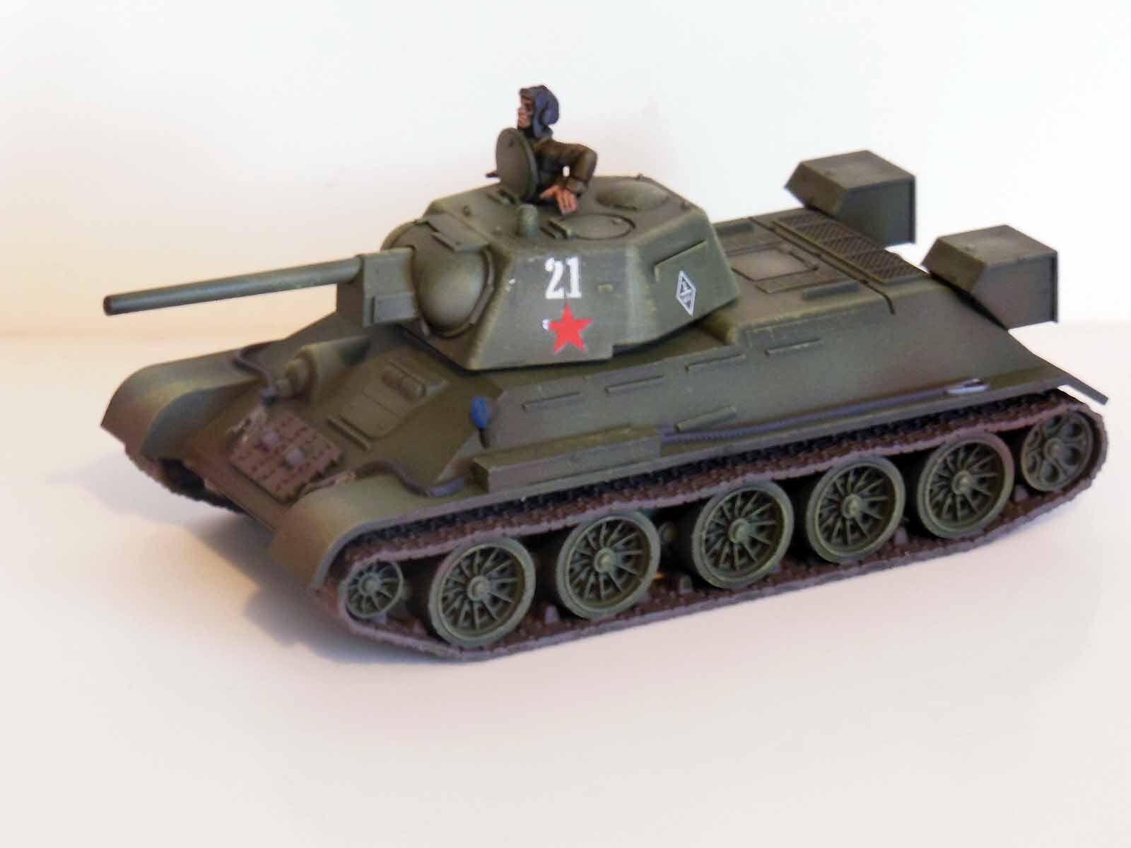 28mm otturatore catena di comando 76 sovietico t34  76 comando dipinto & passate   3 93e55d