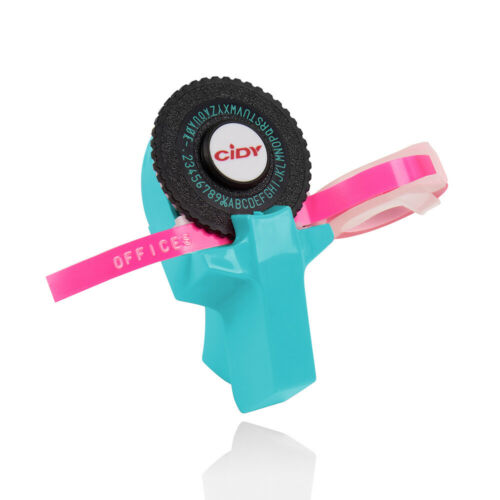 Mini Portable Manual Label Maker DIY 3D-Prägung Etikettenschreiber Drucker