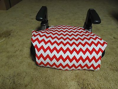 Methodical Chevron (red/white) Booster Seat Cover To Have A Unique National Style