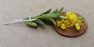 1.12 échelle Maison De Poupées Orchidée Jaune Jardin Floral Miniature Accessoire 21s-afficher Le Titre D'origine