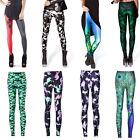 Fashion Graphic Print Pattern Pant Women Stretch Tight Leggings Skinny Pants New