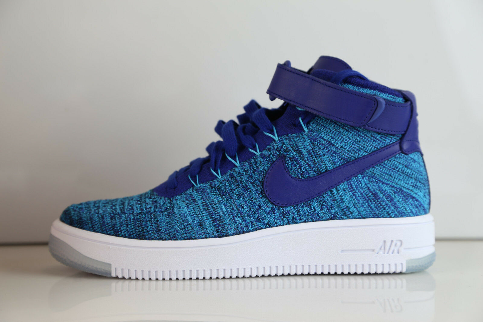 Nike Womens AF1 Ultra Flyknit bluee Lagoon  818018-400 Air Force 6.5-10