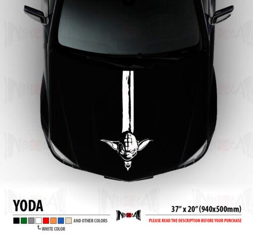 MASTER YODA RACE STRIPES HOOD Jedi Star Wars Rebels Car Vinyl Sticker Decal