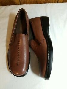 Naturalizer Leather Shoes Brown Loafers