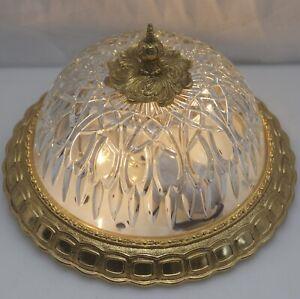 Decken-Lampe-Antik-Stil-Plafoniere-26cm-NEU-VERKABELT-Flush-Mount-Led-Light