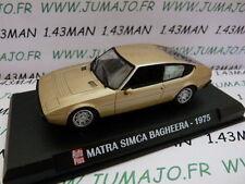 Voiture 1/43 IXO AUTO PLUS : SIMCA Matra Bagheera 1975