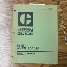 Cat Caterpillar 980b Lube Amp Maintenance Manual Wheel Loader Guide Book 89p906 Up