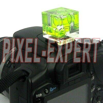 SHOE BUBBLE LIVELLA 3 ASSI SLITTA FLASH HOT PER CANON EOS6D 5D 7D MARK III II I