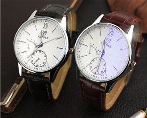 Yazole-Mens-Aviation-Formal-Dress-Roman-Numeral-Quartz-Watch-Colour-Choice-3ATM