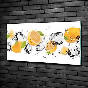 Wandbild Glas-Bild Druck auf Glas 100x50 Deko Essen /& Getränke Zitronen Baum