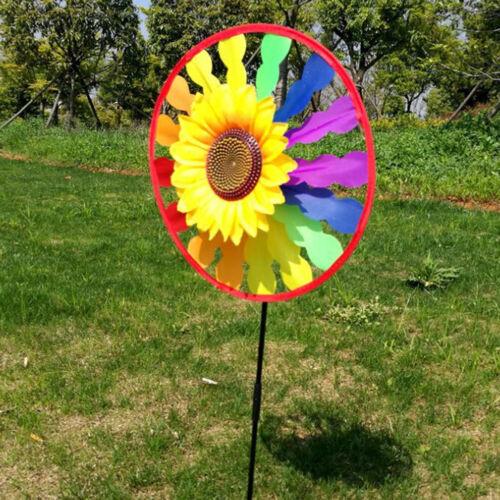 Yard Garden Outdoor Decor Sonnenblumen Windmühle Wirbelnder Wind Spinner Ki CBL