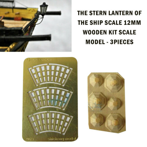 1 Packet 3 Units The Stern Lantern of The Ship Scale 12MM Wooden Kit Scale Model