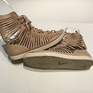 Nike Racquette Slice Gladiator Shoes Womens SZ 9.5 Beige Nude Lace ... 3f7159750e