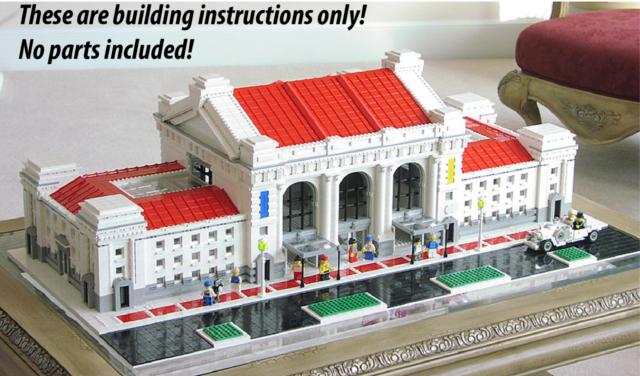 Lego Huge Train Station Building Instructions Ebay