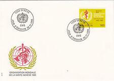 Schweiz FDC Ersttagsbrief 1995 WHO Emblem  Mi.Nr.41