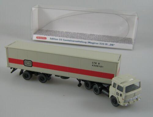 Wiking 1:87 H0 Magirus 235D 40 ft Containersattelzug /'DB/' Lechtoys Sondermodell