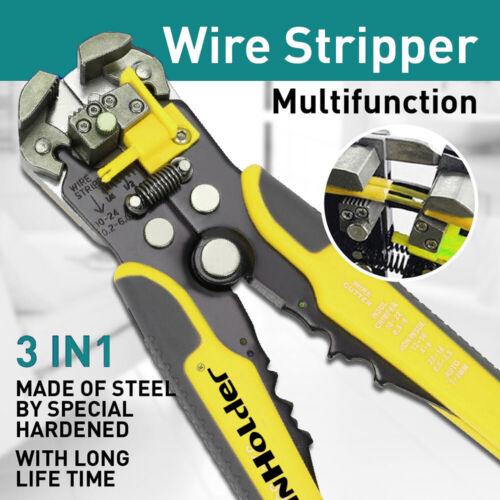Auto Adjusting Wire Stripper Cutter Terminal Crimper Multi-tool Electrical Cable