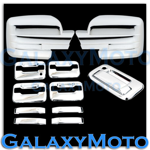 09-14 Ford F150 Chrome Mirror no light+4 Door Handle+no KYP K.H Tailgate Cover
