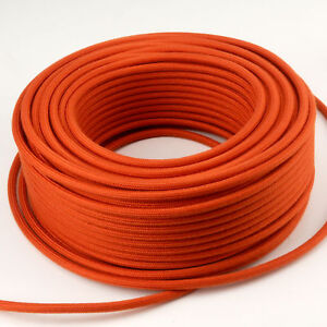 Textilkabel-Leitung-Faser-umflochten-rund-Abaca-Feueropal-3x0-75-H03VV