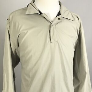 IZOD-MENS-VENTED-1-4-ZIP-LONG-SLEEVE-TAN-GOLF-PULLOVER-WINDBREAKER-JACKET-2XL