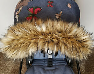 New Pram Fur Hood Trim Winter Kit Mittens Stroller Buggy Carrycot Pushchair Kids