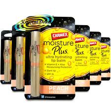 6x Carmex Moisture Plus Ultra Hydrating Peach Sheer Tint SPF15 Lip Balm