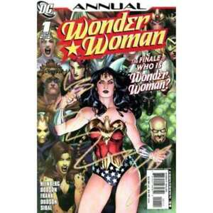 Wonder Woman (2006 series) Annual #1 in Near Mint condition. DC comics [*it]