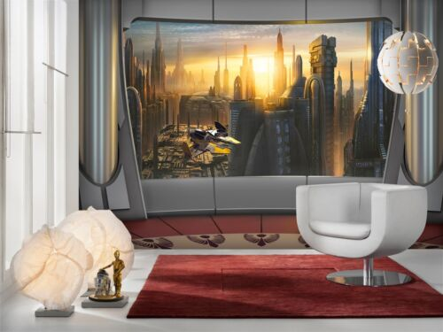 Giant Wall mural photo Wallpaper 368x254cm Star Wars Coruscant View