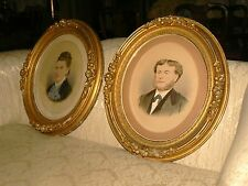 SALE! (2) VICTORIAN Gilded Gold OVAL Gesso PORTRAIT Picture Frame 21 x 18 c1870