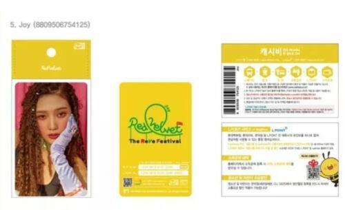RED VELVET 레드벨벳 CASHBEE TRANSPORTATION CARD  THE REVE FESTIVAL SM OFFICIAL GOODS